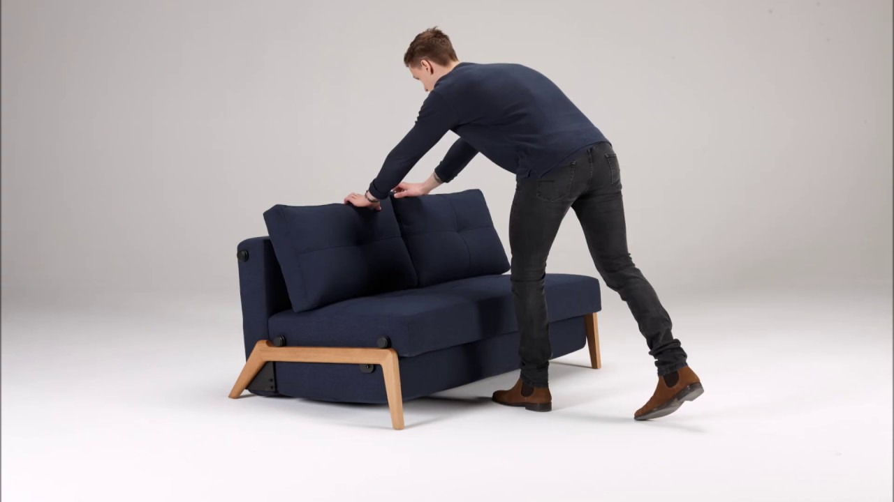 Cubed 02 Sofa Bed With Wood Legs From