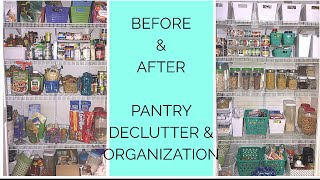 Pantry Declutter and Organization 2018