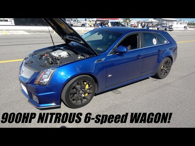 Deceiving Wagon 900Hp Nitrous 6 Speed Cts V Roll Racing