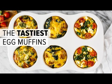 EGG MUFFINS (3 WAYS) | healthy breakfast meal prep recipe