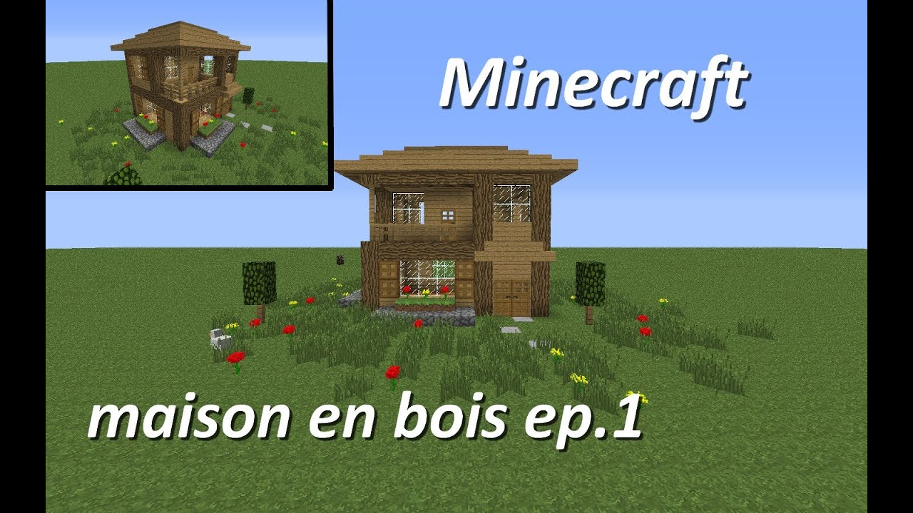 minecraft maison en bois ep1  YouTube