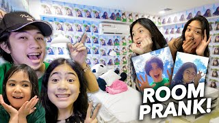 We Filled Our Sister's ROOM With PICTURES Of Ours PRANK!! | Ranz and niana