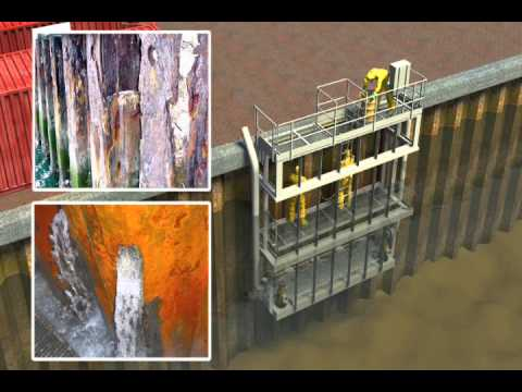 Inspection And Repairs Of Corroded Steel Sheet Piling