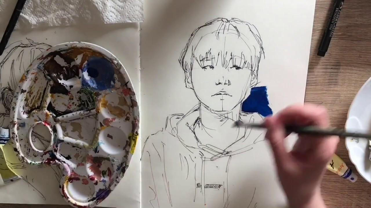 Pencil sketch up close masturbation - 1 2