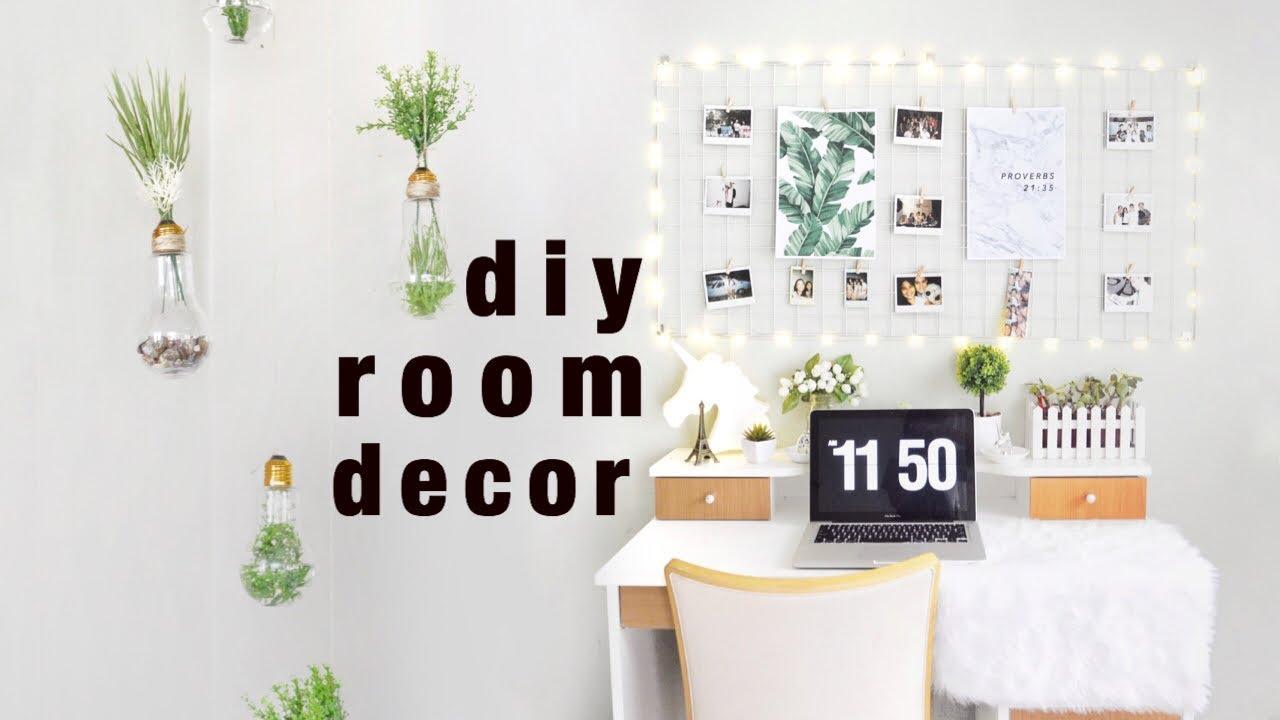 Diy Room Decor Ideas Tumblr Pinterest Inspired Youtube