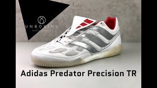 Andrew Halliday Astrolabio damnificados  Adidas Predator Precision TR David Beckham 'White/Silver/Red' | UNBOXING &  ON FEET | football shoes - YouTube