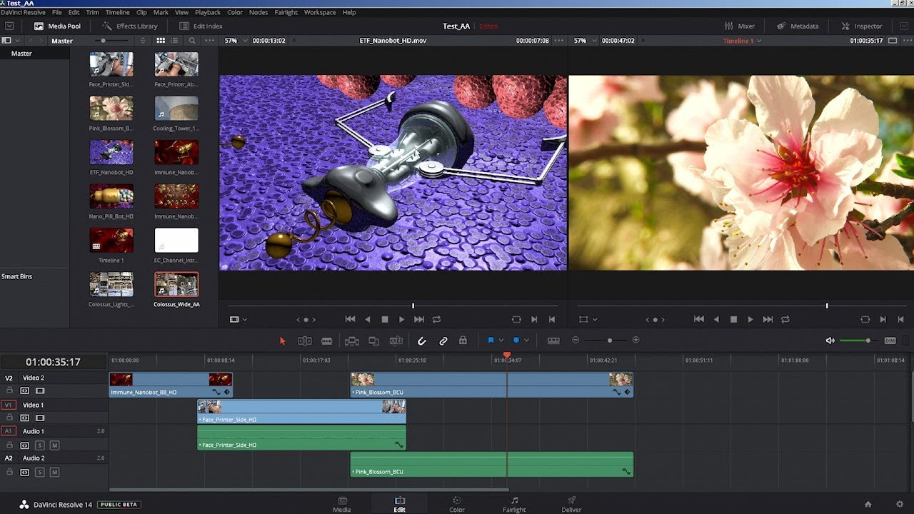Davinci Resolve 14 Free Video Editor Youtube
