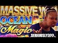 ★ MASSIVE WIN on FIRST TRY? ★ OCEAN MAGIC slot machine BONUS WINS !