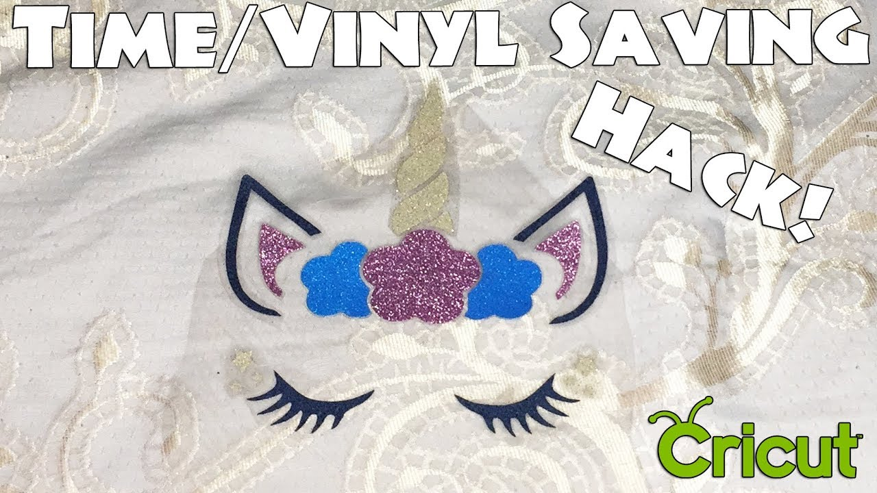 Unicorn Face Shirt Layering Hack - Save TONS of Vinyl! Cricut Maker