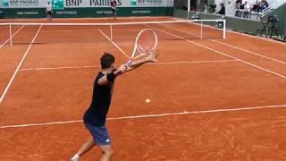 Dominic Thiem practice