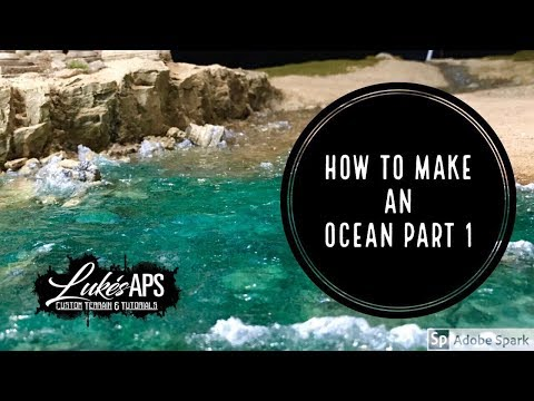 How To Make A Model Ocean Part 1: Resin Pour And Tints