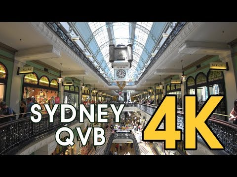 【4K SYDNEY AUSTRALIA】 Walking Trail QVB, The Queen Victoria Building In Sydney