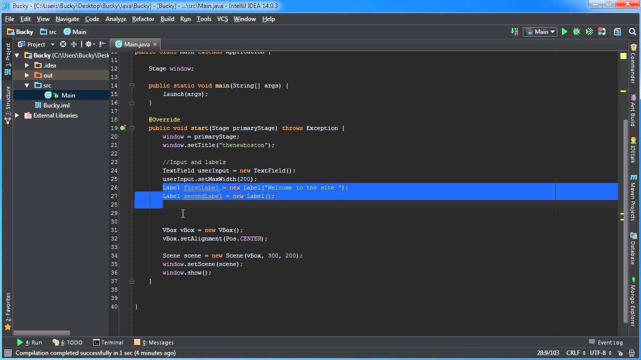 Javafx java gui tutorial 30 binding properties example youtube baditri Choice Image