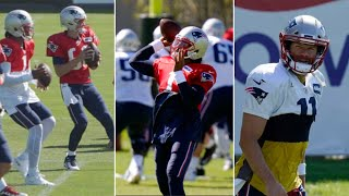 Cam Newton, Julian Edelman getting their timing at New England Patriots Training Camp! #patriots