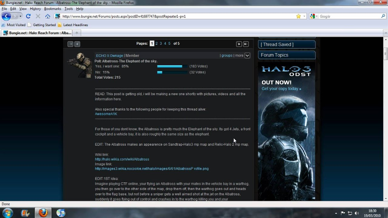 Halo Reach Forum Albatross-Poll