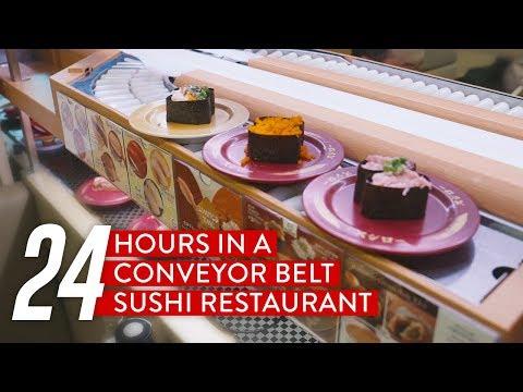 24 Hours In A Conveyor Belt Sushi Restaurant: Sushiro
