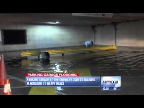 Crowley County Courthouse floods