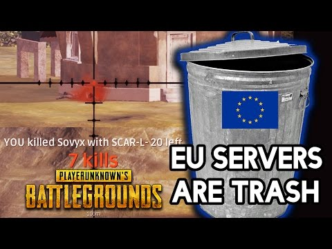 EU SERVERS ARE TRASH! PUBG Solo Playerunknown Battlegrounds