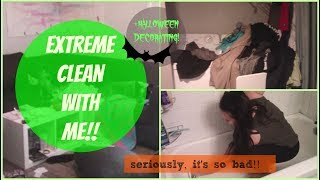 EXTREME CLEAN MY FILTHY APARTMENT!! SPEED CLEAN WITH ME!!(the messiest my apartment has ever been)