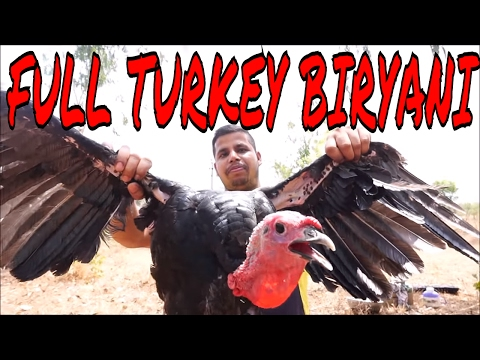 BEST TURKEY BIRYANI IN THE WORLD - COOKING A WHOLE TURKEY WITH RICE - HOW TO COOK A TURKEY