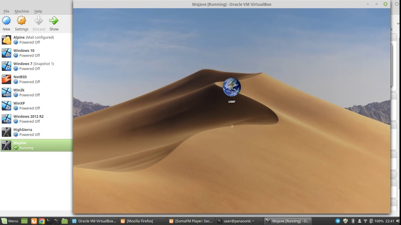 macOS Mojave 10 14 in VirtualBox on Linux