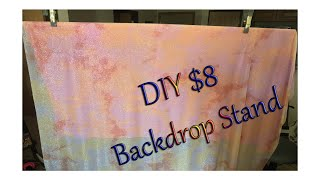 DIY $8 Backdrop stand using PVC pipe