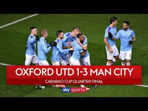 Sterling brace sees City advance | Oxford Utd 1-3 Man City | Carabao Cup Highlights