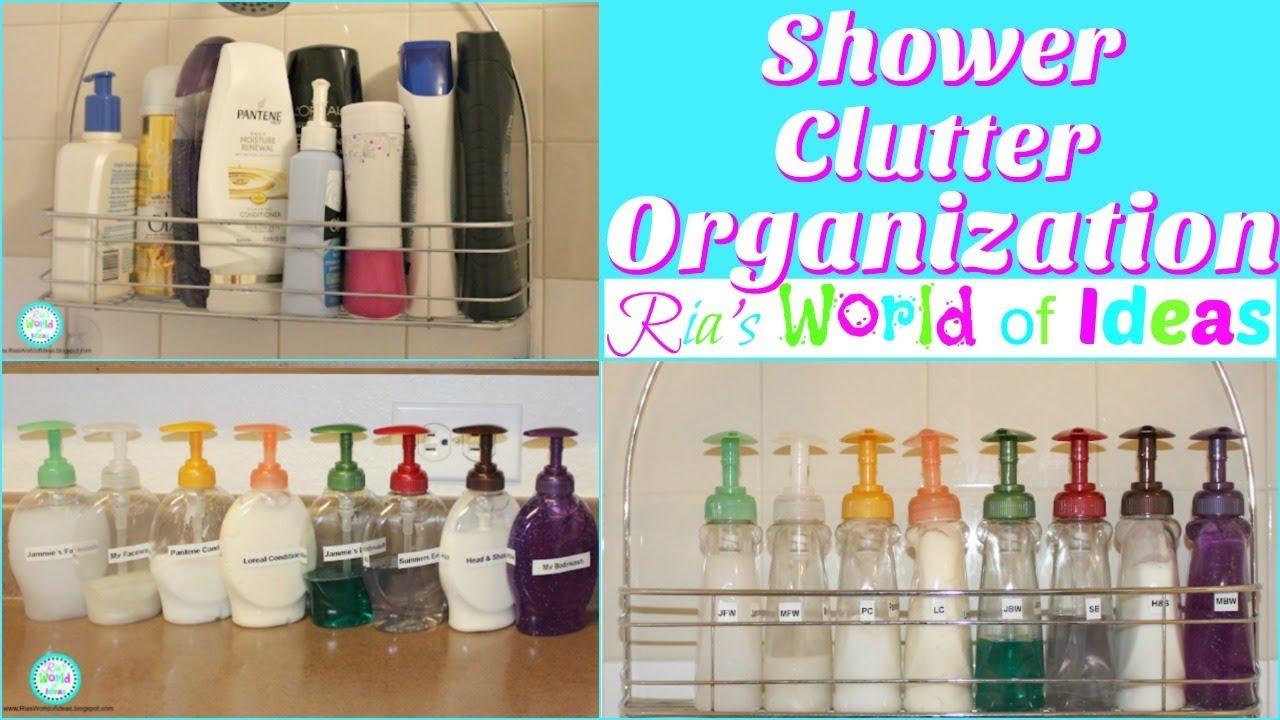 Shower Clutter Organization - YouTube