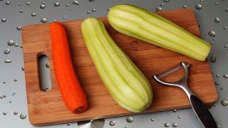 Корейский Салат из Кабачков и Моркови - Очень Вкусные Рецепты
