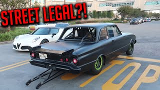 How To EMBARRASS SUPER CAR OWNERS: Bring A DRAG CAR With A WHEELIE BAR