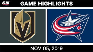NHL Highlights   Golden Knights vs. Blue Jackets – Nov. 5, 2019