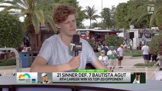 Jannik Sinner | Miami Open Semifinal Interview