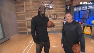 area 21 jason williams shows kevin garnett how to do the elbow pass 2217