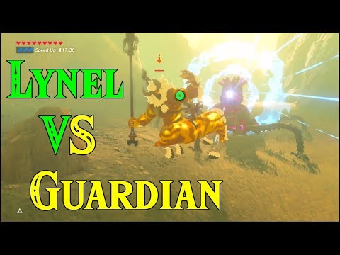 PURE GAMEPLAY! Lynel VS Guardian! WORLD PREMIERE! Saturday Morning in Zelda Breath of the Wild DLC