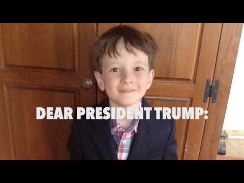 Liam's Letter to President Trump