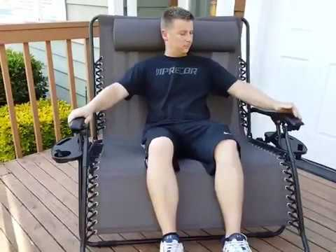 Sundale Outdoor 2 Person Zero Gravity Outdoor Patio Double Chair Folding Lounge customer review
