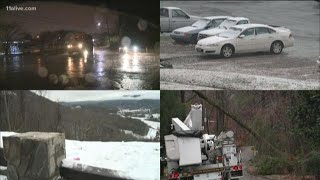 Winter storm drops snow and ice in north Georgia
