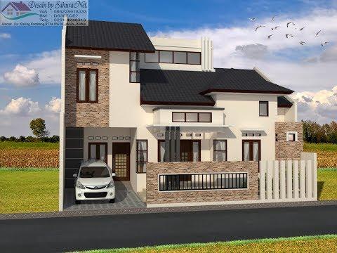 Rumah Minimalis Lantai 2 Modern House 12x10
