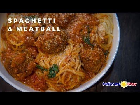 Spaghetti And Meatballs With Meaty Marinara Sauce   Panlasang Pinoy