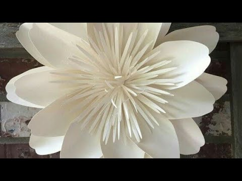 How to make white paper  flower at home...diy flower step by step