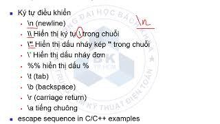 Kỹ thuật lập trình 08 - ĐHBKTPHCM - Chương 2 (phần 1)
