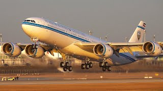 Munich Security Conference #1 | AirForce, CIA, Army, Government: Rare & Close-Up w. Kuwait A340-500