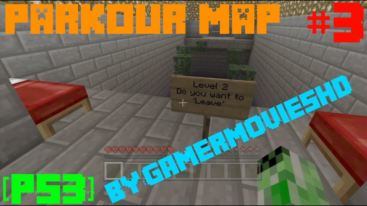 minecraft ps4 map download parkour