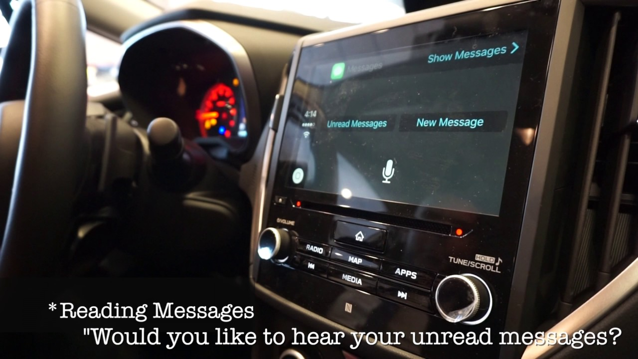 Messege Le Carplay Subaru Impreza 2017