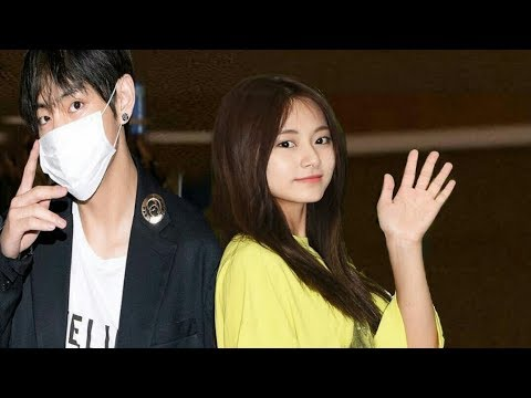 BTS V TAEHYUNG AND TWICE TZUYU MOMENTS AT SMA 2019 #Taetzu