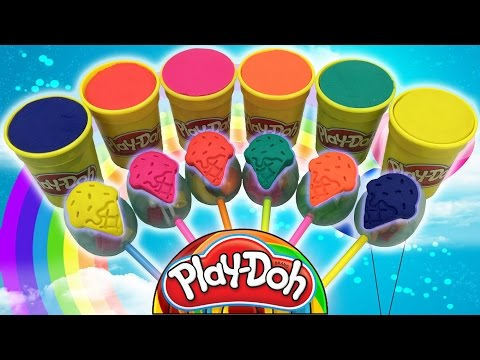 Lollipops Play Dough Ice Cream Cups Surprise Eggs Toys Learn Colors & Creative for Kids with Animals