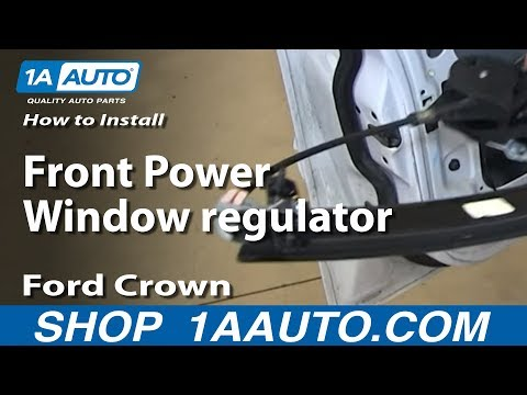 How To install Replace Front Power Window regulator 2003-05 Ford Crown Victoria