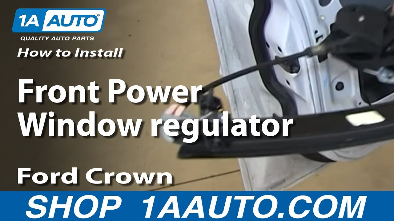 how to replace window regulator 92 11 ford crown victoria [ 1280 x 720 Pixel ]