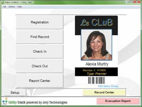 Visitor Badge Software - Lobby Track