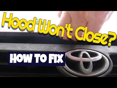 Toyota hood won't close How to fix it and most other car hoods